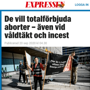 Kommentarer till Expressens reportage om abort